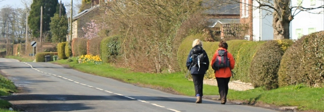 14 Hadrian's Wall walkers, Ruth hiking the coast in Cumbria