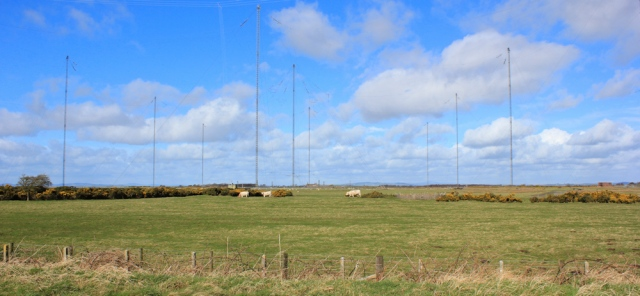 14 VLF transmitters, Anthorn, Ruth walking the English Coast, Cumbria