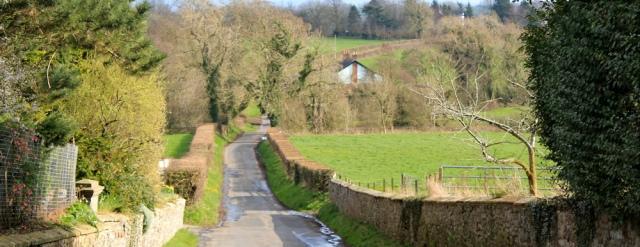 22 road to Kirkandrews-on-Eden, Ruth walking the English coast, Cumbria