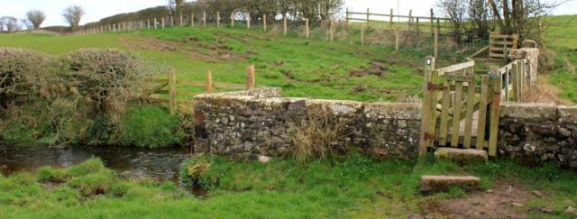 25 Sour Milk Bridge, Hadrian's Wall Path, Ruth hiking to Carlisle