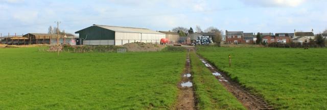 27 Grinsdale, Ruth hiking Hadrian's Wall Path, to Carlisle