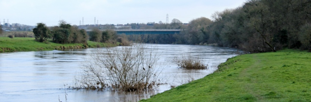 28 River Eden, Ruth hiking to Carlisle along the Hadrian's Wall Path