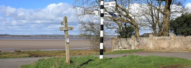 30 Rome sign post, Bowness on Solway, Ruth Livingstone