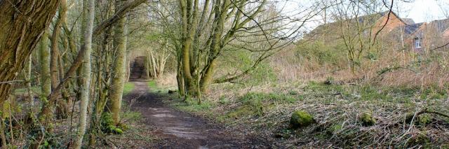 33 approaching Carlisle, Ruth's coastal walk, Cumbria