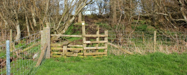 34 footpath through Halltown Farm, Ruth's coastal walk, to Gretna or bust - Copy