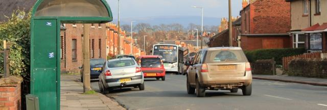35 Carlisle and buses, Ruth's coastal walk, Cumbria