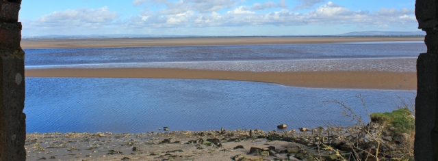 a11 Solway Firth, Ruth walking Hadrian's Wall, Cumbrian coast