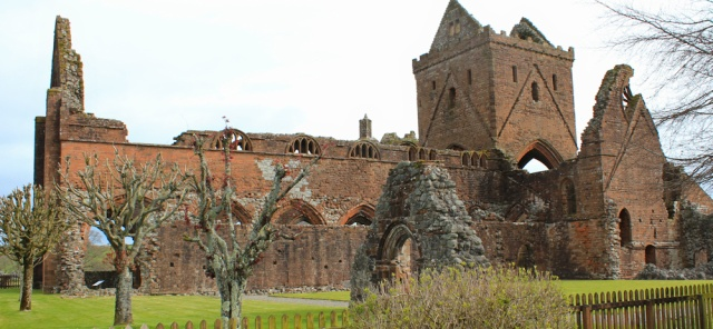 01 Sweetheart Abbey, Ruth walking in Dumfries and Galloway