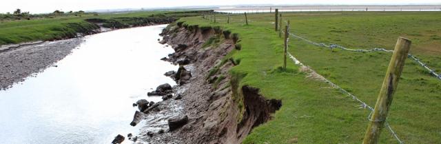 03 River Esk, Ruth walking in Gretna, Scotland