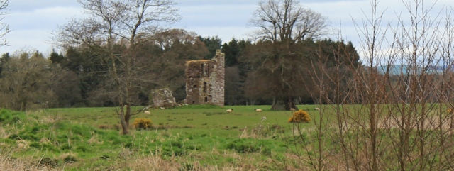 10 Tower at Bankend, Ruth walking the Scottish coast, Dumfries and Galloway