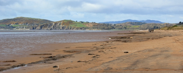 12 Beach at Mersehead Nature Reserve, Ruth walking the Scottish coast, Dumfries and Galloway
