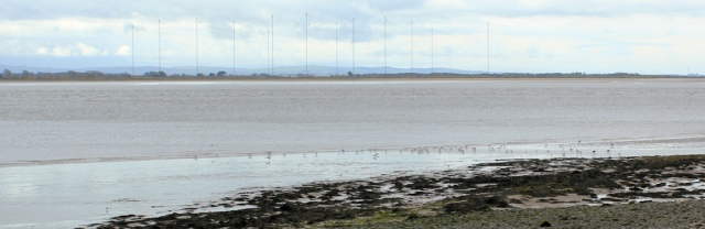 12 VLF transmitter masts in Cumbria, Ruth's coastal walk, Dumfries and Galloway