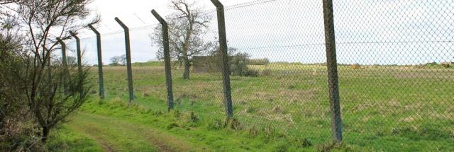 13 track along MOD fence, Eastriggs, Ruth's coastal walk