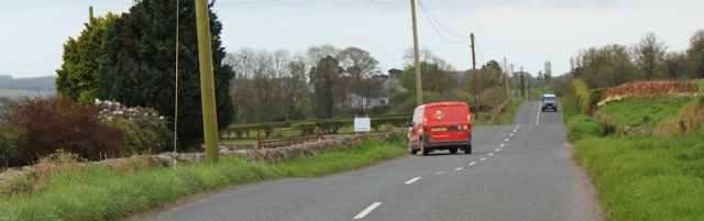 14 Post Office van yet again, Ruth walking in Dumfries and Galloway