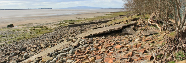 17 eroded shoreline, Solway coast, Torduff Point, Ruth's coastal walk, Scotland