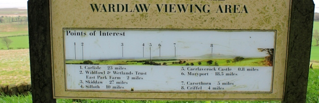 18 Ward Law viewing area, Ruth Livingstone in Scotland