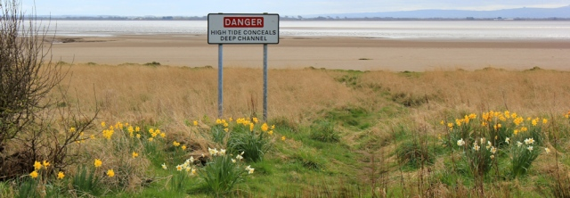 21 warning signs, Powfoot, Ruth's coastal walk, Dumfries and Galloway