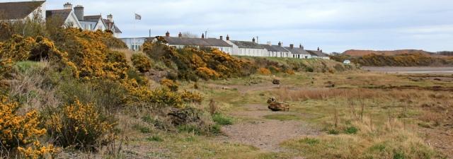23 looking back at Powfoot, Ruth's coastal walk, Dumfries and Galloway
