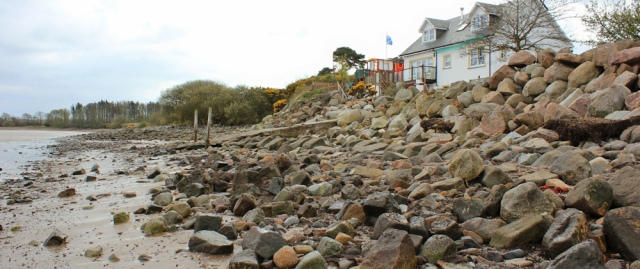 27 high tide at Hogus Point, Ruth Livingstone walking the coast, Dumfries and Galloway
