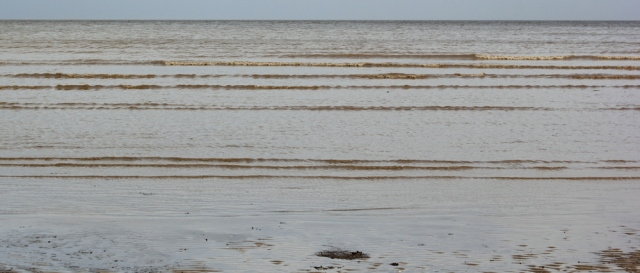 28 rippling sea, Ruth walking in Dumfries and Galloway