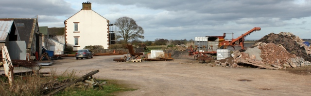 31 Seafield scrap yard, Ruth's coastal walk, Solway