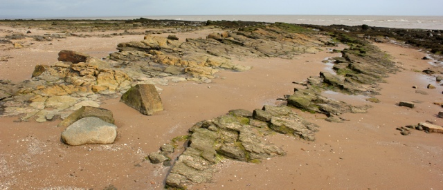 32 amazing rocks on beach, Ruth walking in Dumfries and Galloway
