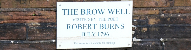 39 not potable, Robbie Burns Well, Ruthwell, Ruth Livingstone