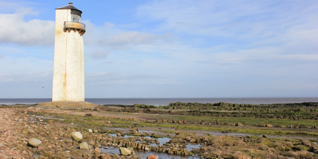 42 Southerness lighthouse, Ruth walking in Dumfries and Galloway
