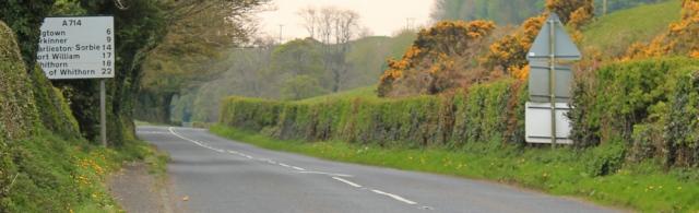 01 A714 to Wigtown, Ruth's coastal walk, The Machars, Scotland