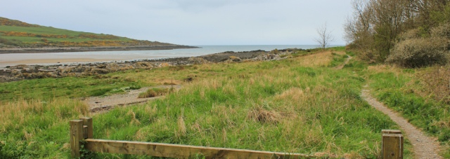 01 Brighouse Bay, Ruth walking the Scottish coast to Gatehouse of Fleet