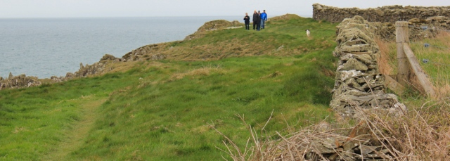 04 group of walkers, Brighouse Bay, Ruth walking the coast of Scotland to Gatehouse of Fleet