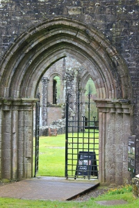 06a Dundrennan Abbey entrance, Ruth Livingstone's coastal walk, Scotland