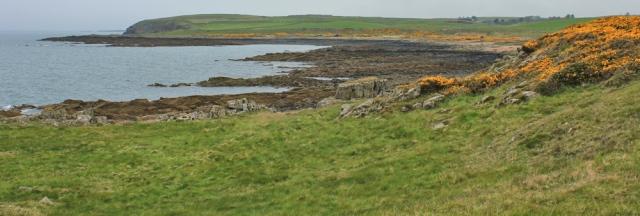 09 Ringadoo Bay, Ruth walking the coast of Scotland to Gatehouse of Fleet