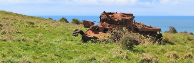 09 rusting tanks, Kirkcudbright ranges, Ruth's coastal walk Dumfries and Galloway