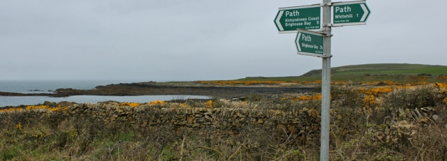 10 core path signs, Ruth walking the coast of Scotland to Gatehouse of Fleet