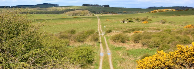 11 track through Kirkcudbright MOD range, Ruth's coastal walk Dumfries and Galloway