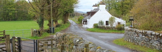 12 pretty cottage, Ruth hiking through Dumfries and Galloway