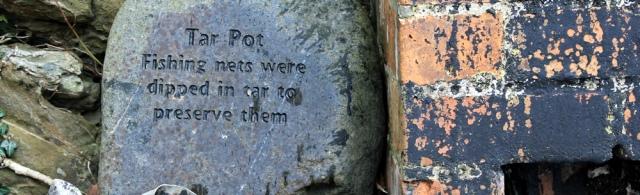 12 Tar Pot information stone, Ruth's coast walk, Dumfries and Galloway