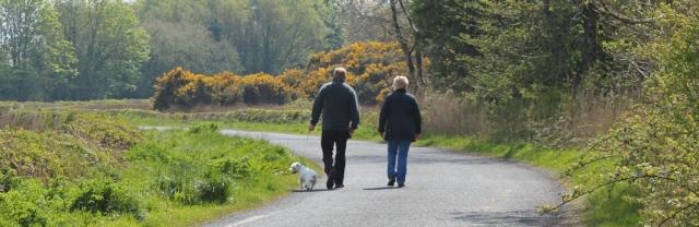 19 Ruth Livingstone trekking to Wigtown, Scotland