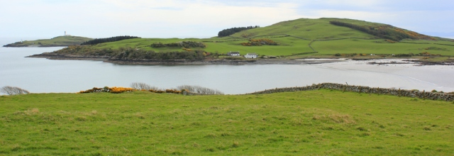 21 Ross Bay and Little Ross Island, Ruth walking the coast of Dumfries and Galloway