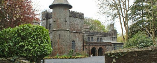 25 Knockbrex Castle, Ruth walking the coast of Scotland to Gatehouse of Fleet