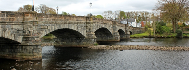 26 Newton Stewart bridge, Ruth Livingstone walking the Scottish coast