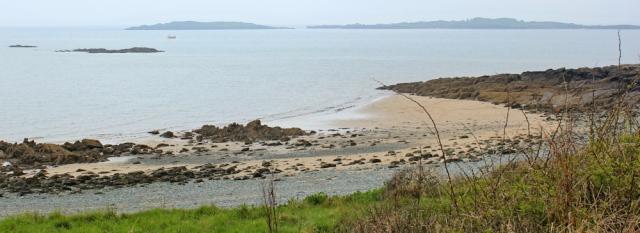 27 Islands of Fleet, Ruth hiking the coast of Scotland