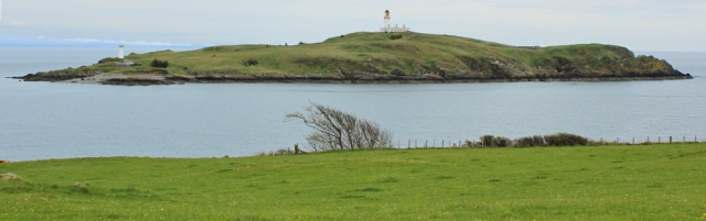 28 Ross Island and 2 lighthouses, Ruth walking the coast of Dumfries and Galloway