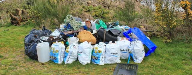 39 fly tip or clean up, Ruth's coast walk, Dumfries and Galloway