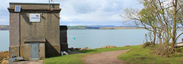 39 lifeboat station, Kirkcudbright Bay, Ruth hiking the coast of Scotland