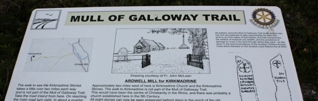 03 Kirkmadrine church and stones, information on the Mull of Galloway Trail, Ruth Livingstone