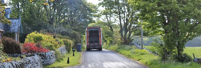 05 dustbin lorry, Ruth's coatal walk, The Rhins, Galloway, Scotland