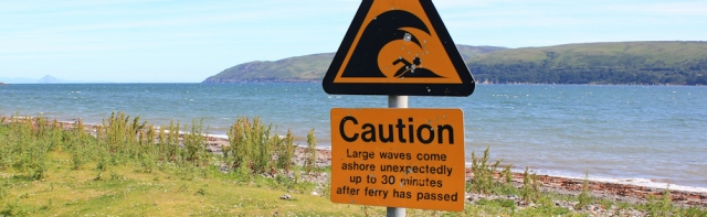 06 caution large waves, Loch Ryan, Ruth Livingstone