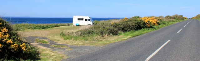 07 campervan by road, Ruth's coastal walk, Galloway, Scotland